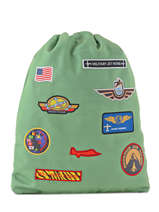 Backpack Jeune premier Green canvas BK17