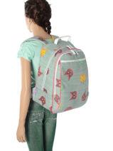 Backpack Jeune premier Blue canvas BJ17-vue-porte