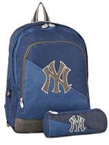 Sac A Dos 2 Compartiments Avec Trousse Assortie Mlb/new-york yankees Bleu blus sky MNO22038