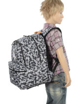 Backpack 2 Compartments With Free Pencil Case Poids plume Black be all over color PCO15547-vue-porte