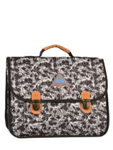 Cartable 2 Compartiments Poids plume Noir be all over color PCO15387