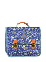 Satchel 2 Compartments With Free Pencil Case Poids plume Blue be all over color PCO15357