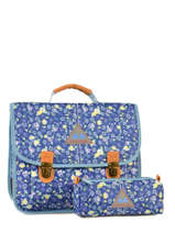 Cartable 2 Compartiments Avec Trousse Offerte Poids plume Bleu be all over color PCO15357