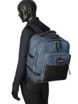 Sac A Dos 2 Compartiments Eastpak Bleu authentic K050-vue-porte