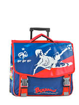 Cartable à Roulettes 2 Compartiments Federat. france football Multicolore france 173F203R