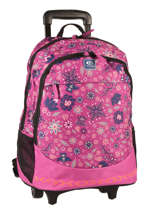 Wheeled Backpack 2 Compartments Rip curl Red mandala LBPND4