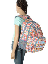 Backpack 2 Compartments With Free Pencil Case Roxy Beige back to school RJBP3594-vue-porte