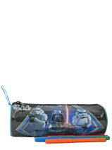 Trousse 1 Compartiment Star wars Noir dark vador AST3598-vue-porte