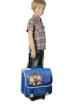 Wheeled Schoolbag Paw patrol Blue star 12001WHF-vue-porte