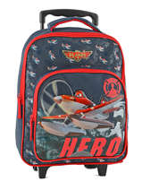 Wheeled Backpack 1 Compartment Planes Blue star 8HERO