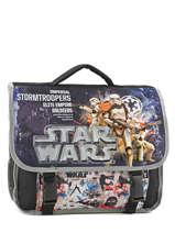 Cartable 2 Compartiments Star wars Noir lazer SW171822