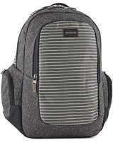 Backpack 2 Compartments + 15'' Pc Quiksilver Gray youth access + QYBP3403