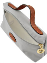 Longchamp Le pliage Clutch Gray-vue-porte