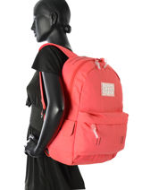 Sac à Dos 1 Compartiment Superdry Rose backpack woomen G91001DP-vue-porte