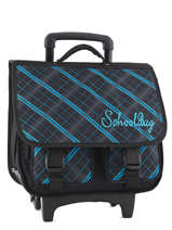 Wheeled Schoolbag 2 Compartments Miniprix Black school 16101