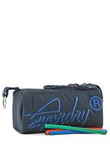 Trousse 1 Compartiment Superdry Bleu accessories men M98009DP-vue-porte
