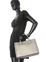 Top Handle Klassik Leather Karl lagerfeld Gray klassik 51KW3019-vue-porte