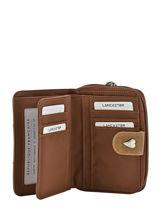 Porte-monnaie Lancaster Marron basic et sport 1003-vue-porte