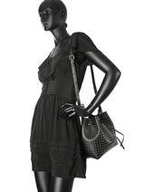 Crossbody Bag Pur Studs Leather Lancaster Black pur studs 528-52-vue-porte
