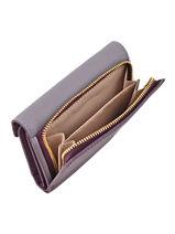 Wallet Leather Lancaster Violet signature 127-02-vue-porte