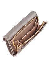 Wallet Leather Lancaster Gray adeline 127-02-vue-porte