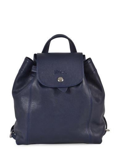Longchamp Le pliage cuir Backpack Blue