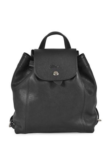 Longchamp Le pliage cuir Backpack Green