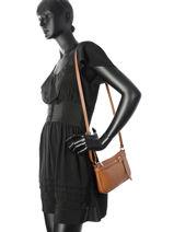 Crossbody Bag  Leather Milano Brown G1421-vue-porte