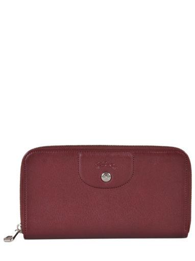 Longchamp Le pliage cuir Portefeuilles Rouge