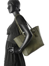 Shoulder Bag A4 Gallantry Green G7339-A-vue-porte