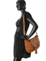 Crossbody Bag  Leather Milano Brown CA16121-vue-porte