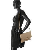 Shoulder Bag Palma Leather Milano Brown palma PA16063-vue-porte