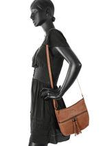 Crossbody Bag Milano Pink velvet stampa V3151104-vue-porte