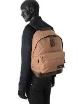 Backpack 1 Compartment Eastpak Beige K811-vue-porte