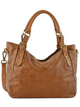 Sac Shopping The Artist Cuir Ikks Marron heritage BK95089