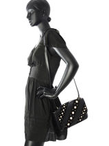 Sac Bandouliere K Iconic Pearl Cuir Karl lagerfeld Noir k iconic pearl 76KW3026-vue-porte
