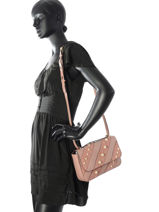 Shoulder Bag K Iconic Pearl Leather Karl lagerfeld Pink k iconic pearl 76KW3024-vue-porte