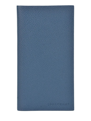 Longchamp Le foulonné Check holder Blue