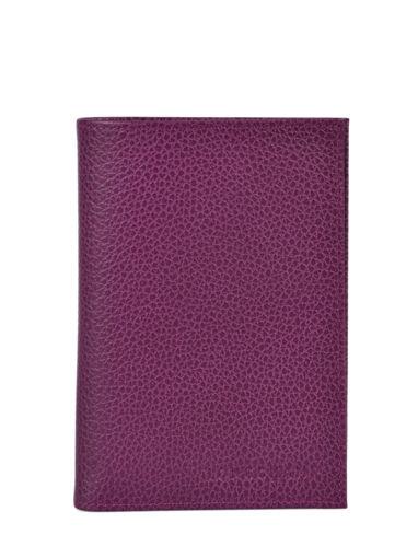 Longchamp Le foulonné Etui passeport Violet