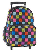 Wheeled Backpack Miniprix Multicolor print E-17