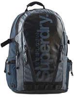 Sac A Dos 1 Compartiment + Pc15'' Superdry Bleu backpack men M91006DP
