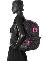Backpack 1 Compartment Superdry Black backpack woomen G91001NP-vue-porte