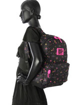 Sac à Dos 1 Compartiment Superdry Noir backpack woomen G91001NP-vue-porte
