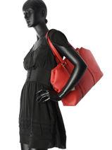 Sac Shopping Study Woomen Rouge study WSTU04-vue-porte