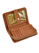 Wallet Leather Nat et nin Brown vintage JOYCE-vue-porte