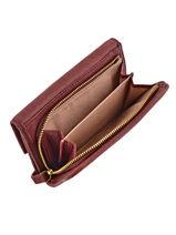 Wallet Leather Nat et nin Red vintage LOTTI-vue-porte