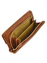 Wallet Leather Nat et nin Brown vintage LOTTI-vue-porte
