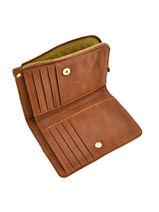 Wallet Leather Nat et nin Brown vintage ROSIE-vue-porte