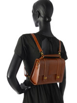 Crossbody Bag Nat et nin Brown vegetal NICOLE-vue-porte