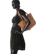 Sac Shopping Classic Cuir Basilic pepper Marron classic BCLA01-vue-porte